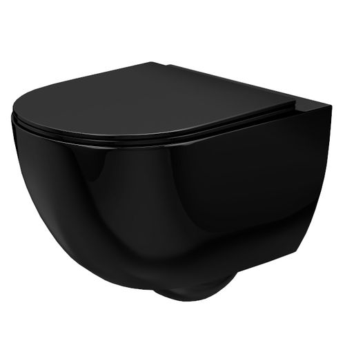 Toilet bowl Rea Carlo Mini Rimless Flat Black